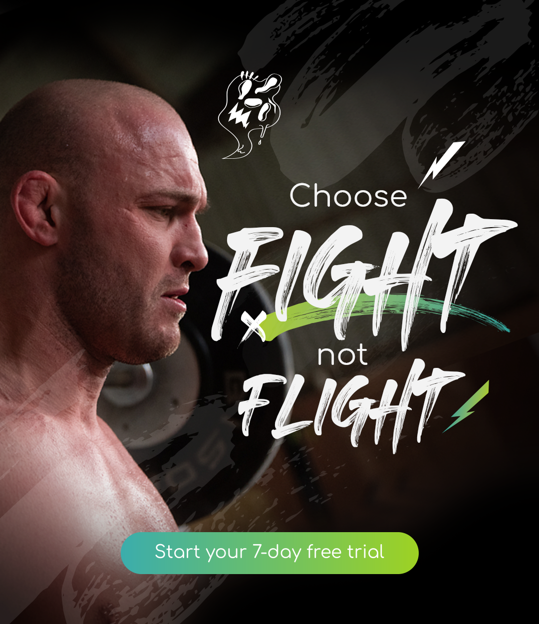 Choose Fight mobile banner - 7-day trial CTA