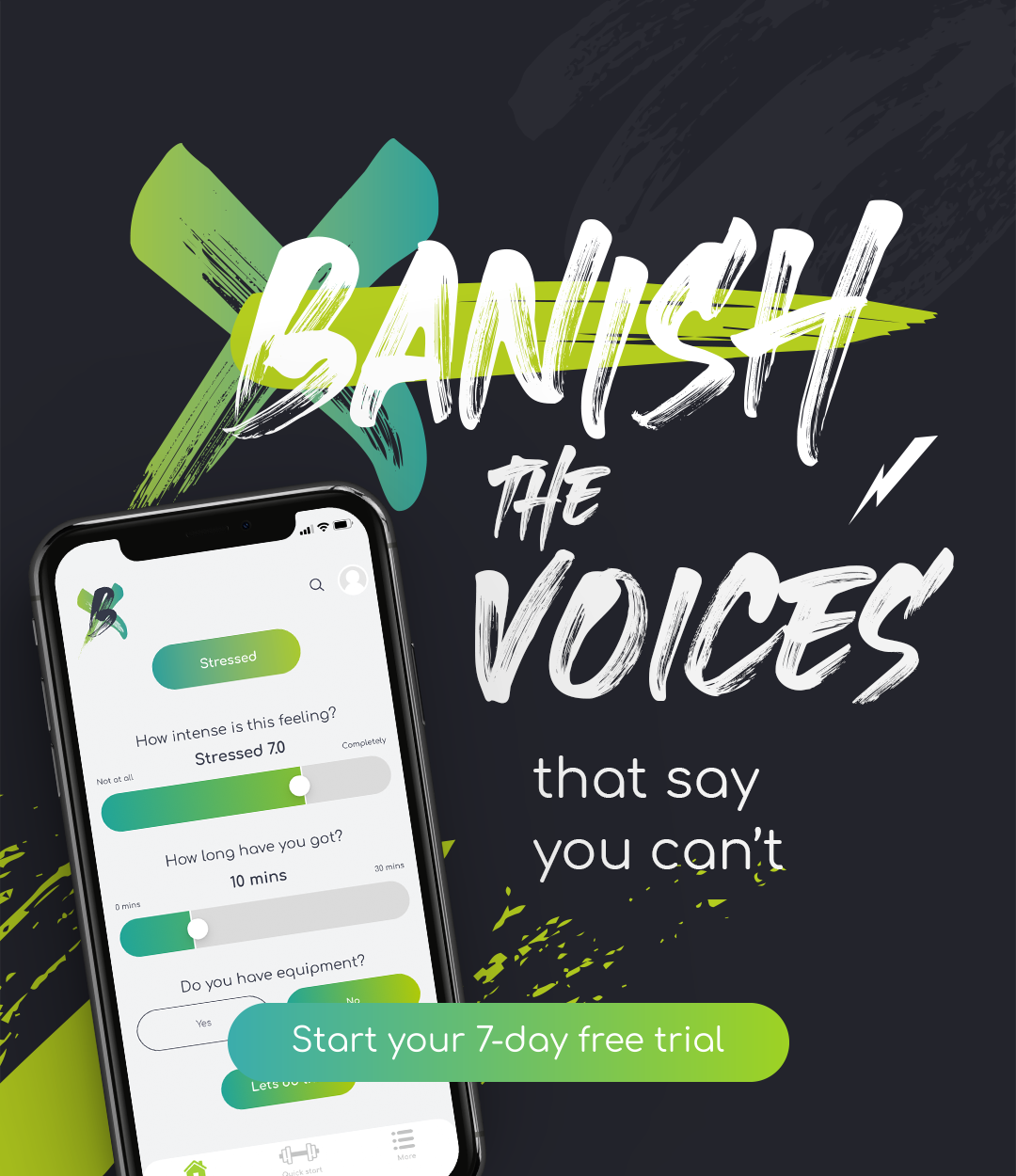 Banish the voices - 7-day trial CTA